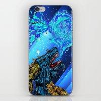 blue dragon fire artist iPhone & iPod Skin