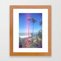 Fragmented Palm Framed Art Print