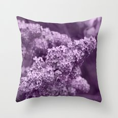 Pretty Lilac in the Spring Throw Pillow