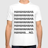 HAHA Mens Fitted Tee White SMALL