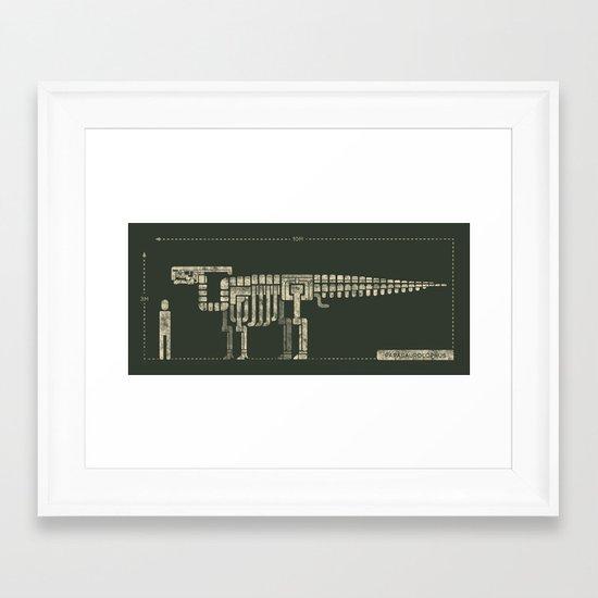parasaurolophus Framed Art Print