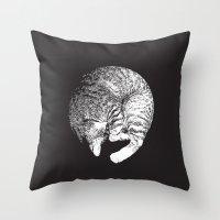 PURRFECT MOON Throw Pillow