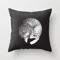 PURRFECT MOON Throw Pillow