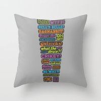 Exclamation! Throw Pillow