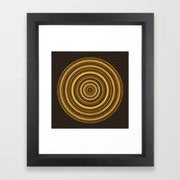 Orbis (On Brown) Framed Art Print