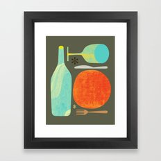 Wine & Dine Kitchen Art Framed Art Print