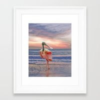 Beachcombing Framed Art Print