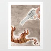 Man-Eating Tiger Art Print