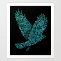 Blue Bird Art Print