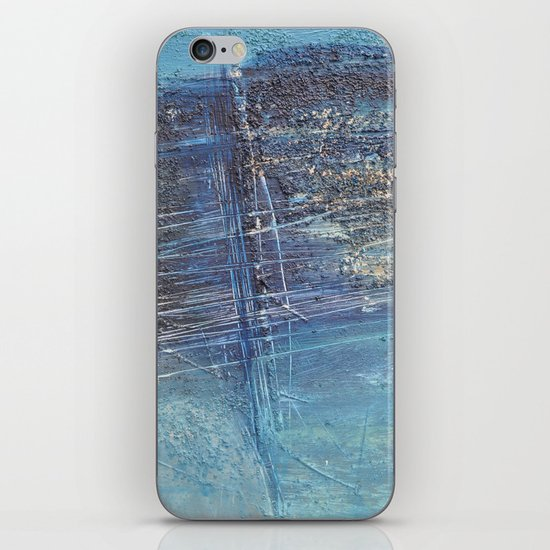 blue green abstract iPhone & iPod Skin