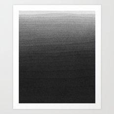 Black and White Ink Gradient  Art Print