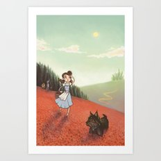 The Poppyfield Art Print