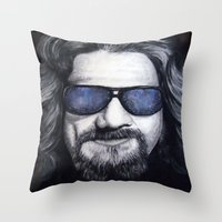 The Dude Lebowski Throw Pillow