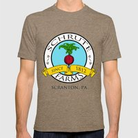 Schrute Farms | The Offi… Mens Fitted Tee Tri-Coffee SMALL