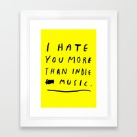 INDIE MUSIC Framed Art Print