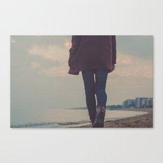 beach walker Canvas Print