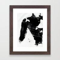 Body Language Framed Art Print