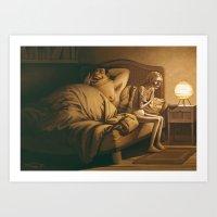 The other vampire / L'autre vampire Art Print