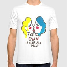we are lesbians for our own entertainment SMALL Mens Fitted Tee White