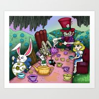 Alice In Wonderland By R… Art Print