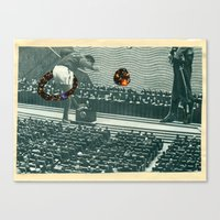 Cutters Football In Mosc… Canvas Print