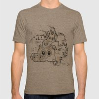 Sugar Monsters Mens Fitted Tee Tri-Coffee SMALL