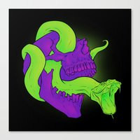 Neon Death Canvas Print