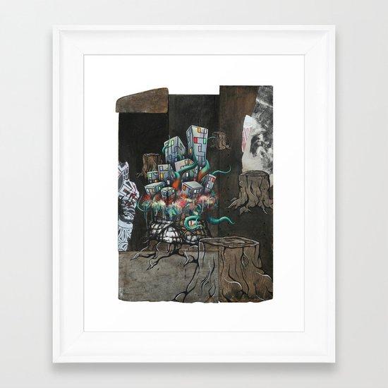 Mending the Stumped Framed Art Print