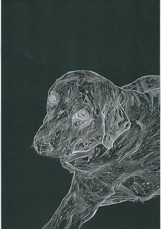 Line Dog Art Print