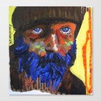 Le Fauve Bleu Canvas Print