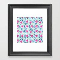 Roses And Vines Framed Art Print