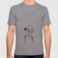 No Heart, No Pain. Mens Fitted Tee Athletic Grey SMALL