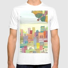 cité Mens Fitted Tee White SMALL