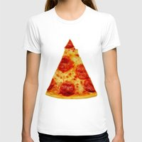 PIZZA Womens Fitted Tee White SMALL