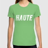 Haute (High) Inverse Womens Fitted Tee Grass SMALL
