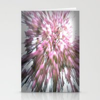 Abstract Pink Flowers 1 Stationery Cards