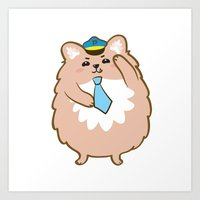 Animal Police - Pomeranian Art Print