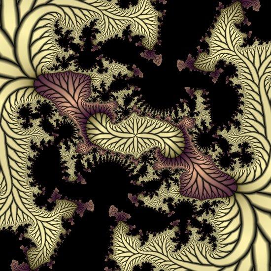 Leaf fractal Art Print