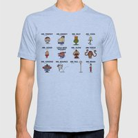 Mr.Fighter II Mens Fitted Tee Athletic Blue SMALL