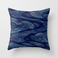Geometric Water Throw Pillow