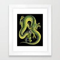 japanese dragon 9 Framed Art Print