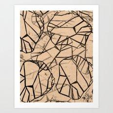 Geometric Pattern 1 Art Print