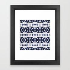 BOHOCHIC INDIGO DYE Framed Art Print