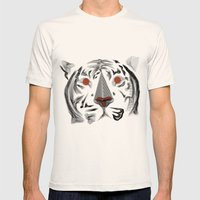 Moirè Tiger Mens Fitted Tee Natural SMALL