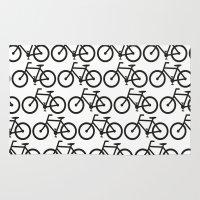 Bicycle Stamp Pattern - … Rug