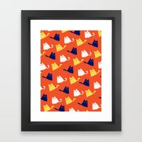 Ghostly Cats Framed Art Print
