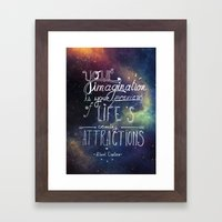 Wise Words Framed Art Print