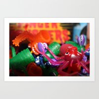 MONSTER MONSTER on my fingers. Art Print