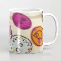 Embroidered Buttons Mug