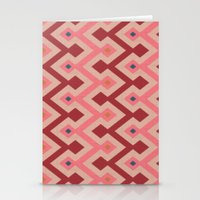 Kilim In Pink Stationery Cards